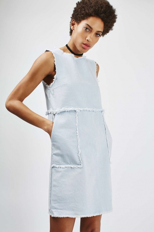 Topshop  robe jean délavée