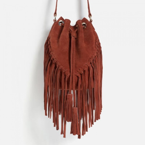Zara - Sac bourse à franges