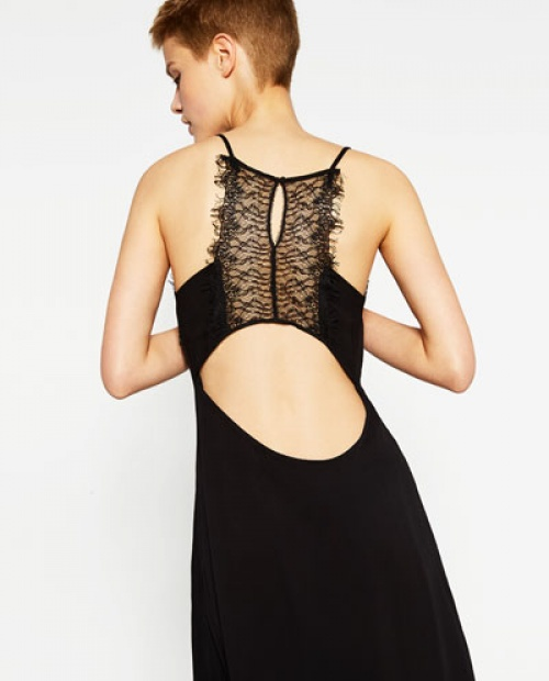 Zara - Robe avec dentelle dans le dos