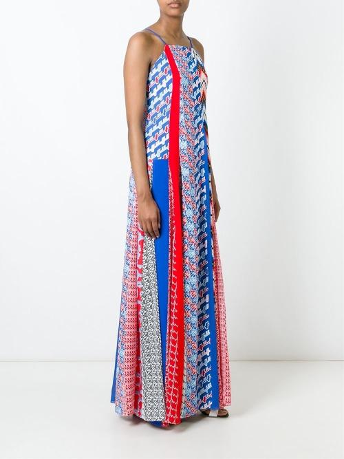 Kenzo - Robe  patchwork géométrique