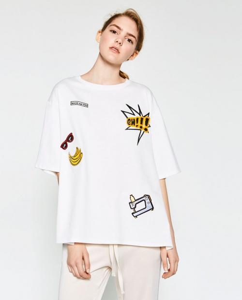 Zara - T-shirt inscription pop