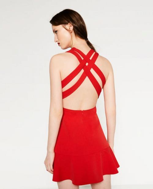 Zara - robe patineuse dos croisé