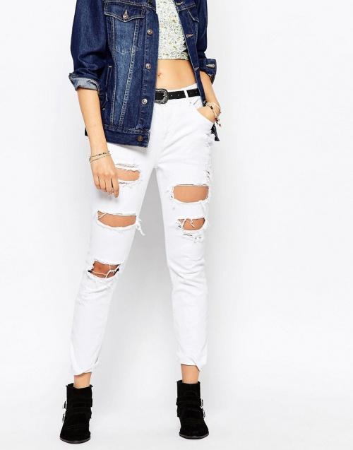 Pepe Jeans - Jean blanc troué