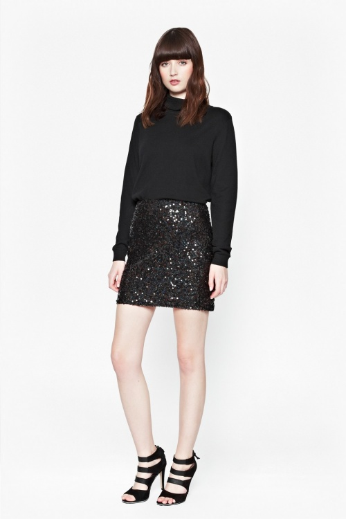 French Connection jupe sequins noire