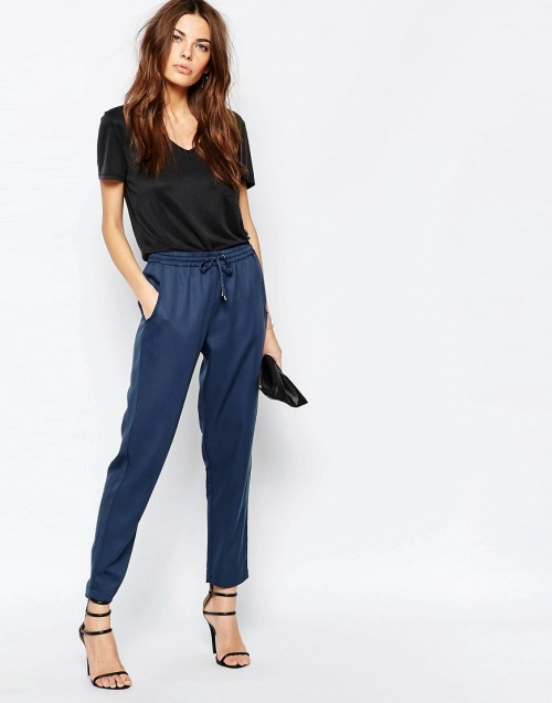 French Connection jogger droit bleu