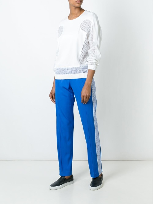 kenzo jogging bleu bande blanche