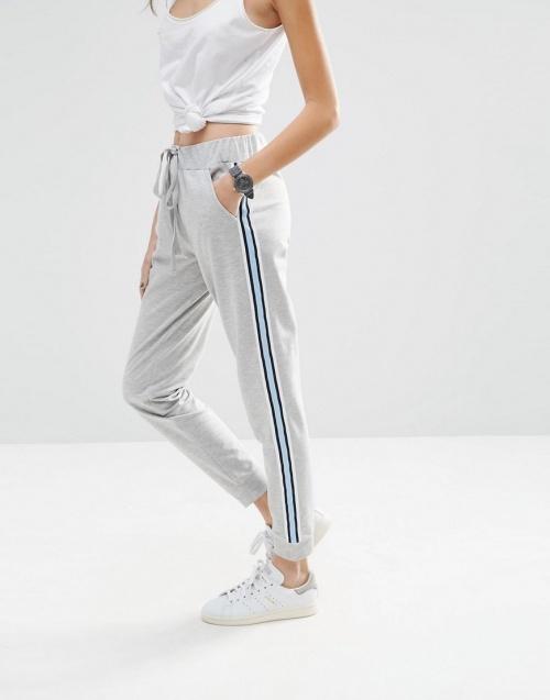 Asos pantalon jogging gris à bandes