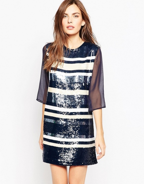 French Connection - Robe sequins sportive