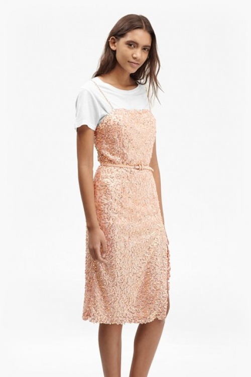 French Connection - Robe rose sequins