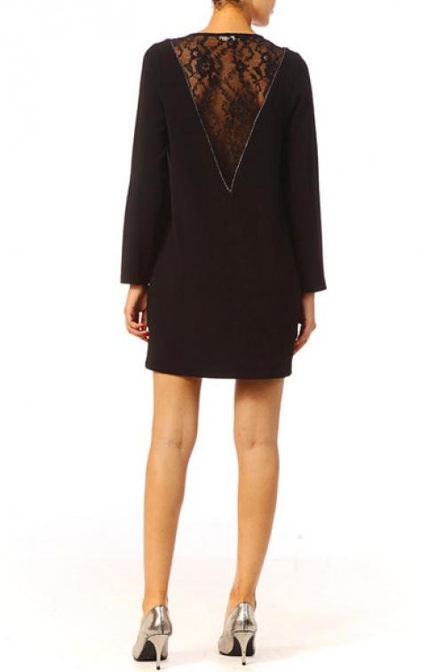 robe dentelle dos noir