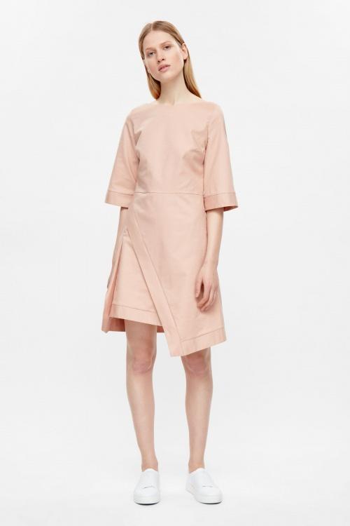 COS - Robe asymétrique rose pale