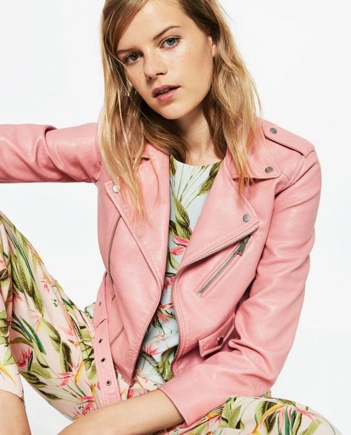 Zara - Blouson biker rose