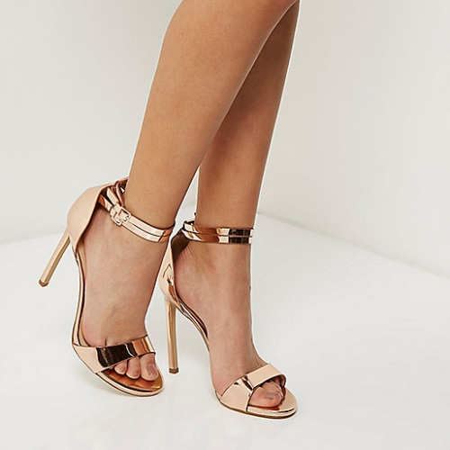 River Island - Sandales or rose open tooe