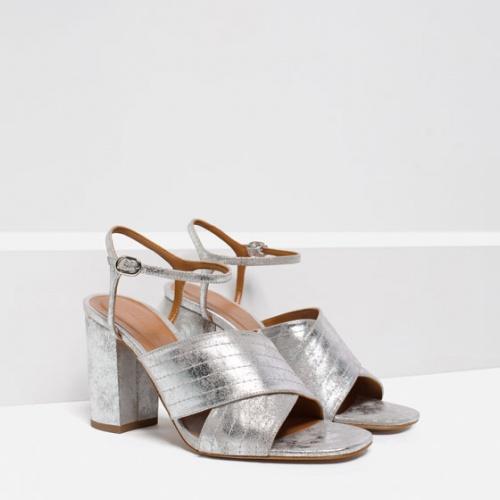 Zara - Sandales talons argent