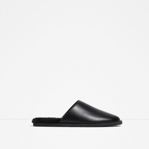 Zara  slippers noirs