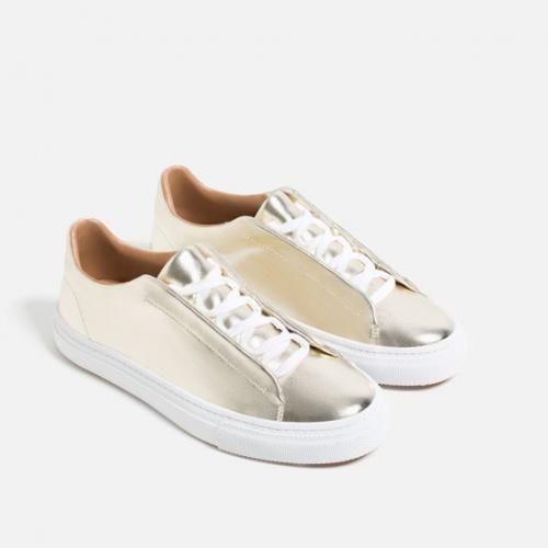Zara - Sneakers argentées