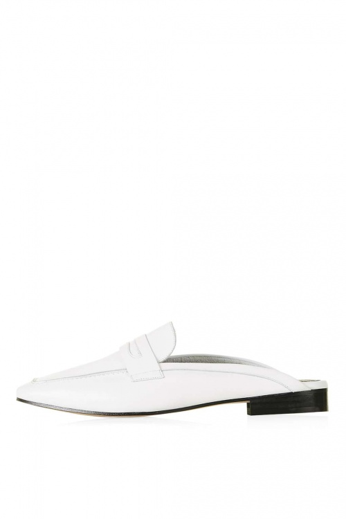 Topshop mules blanches
