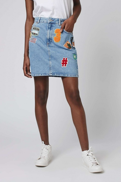 Topshop jupe jeans patch