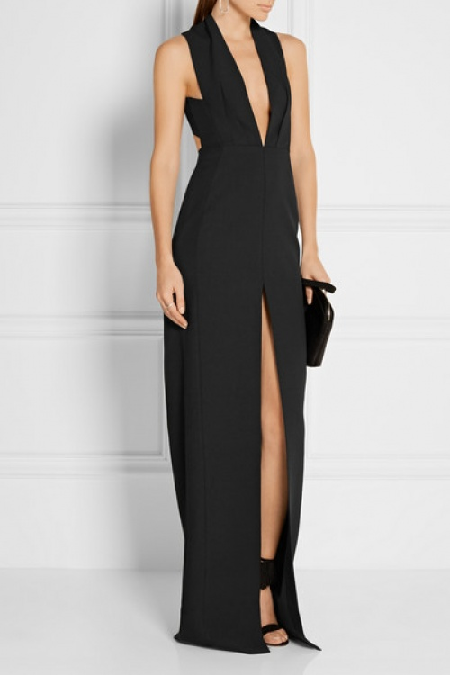 Solace of London robe longue smoking noire
