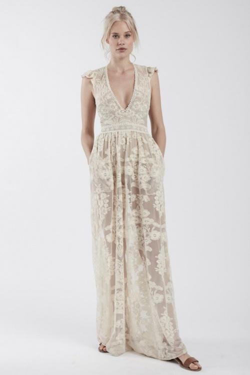 For loves & lemon maxi dress dentelle