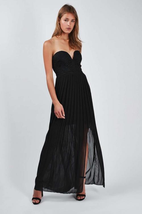 Topshop maxi robe noire bustier