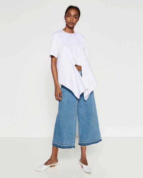 Zara jupe culotte jean
