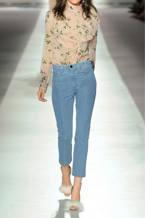 Topshop Unique jean cropped