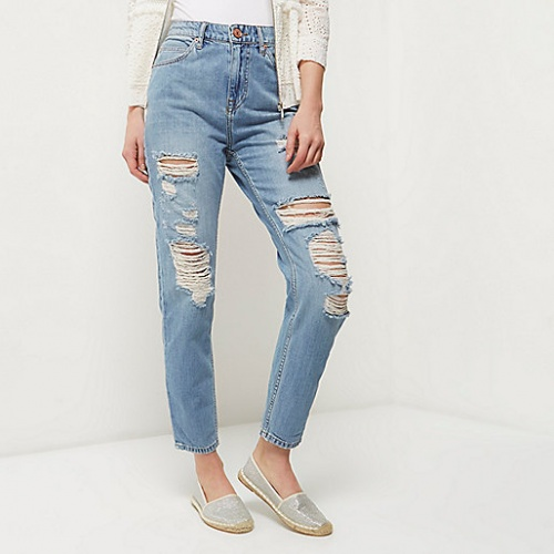 River Island cropped jean arraché