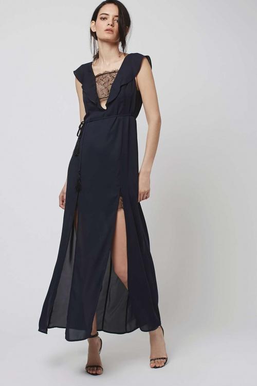 Topshop maxi robe noire dentelle