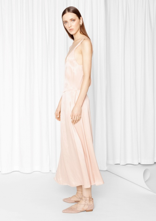 & Other Stories  robe longue rose pale
