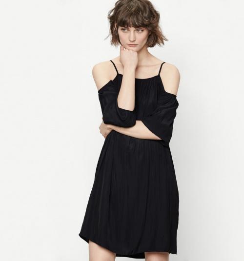 Maje robe épaules nues noire