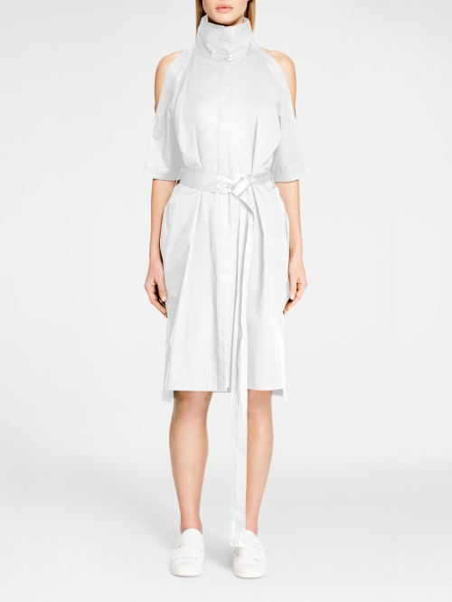 DKNY robe blanche épaules nues