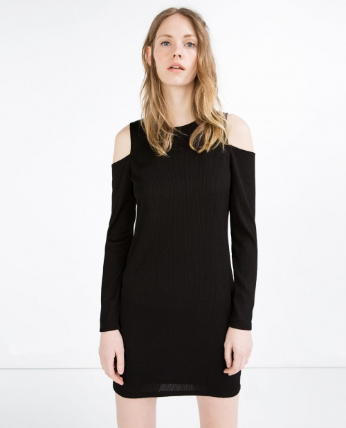 Zara robe épaules nues classique