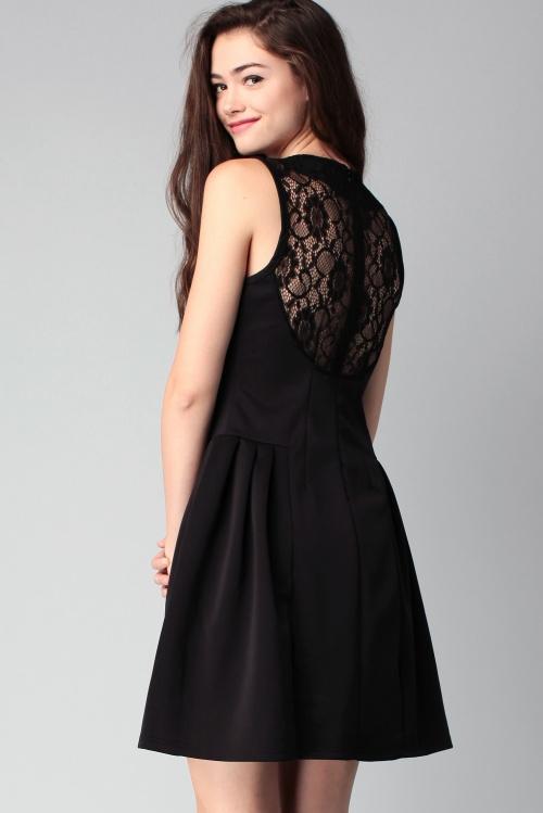 Molly Brackens robe noire dos dentelle