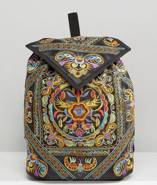 Reclaimed Vintage  sac à dos brodé ethnique