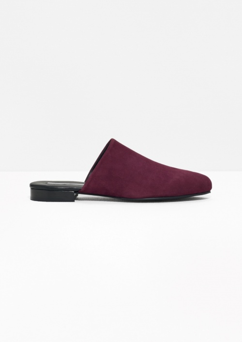 & Other Stories slippers bordeaux