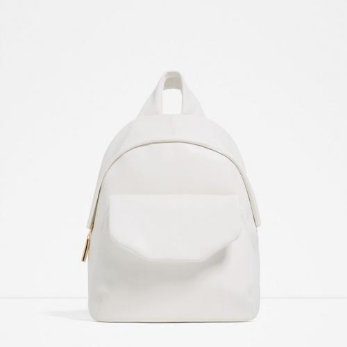Zara sac à dos blanc structuré