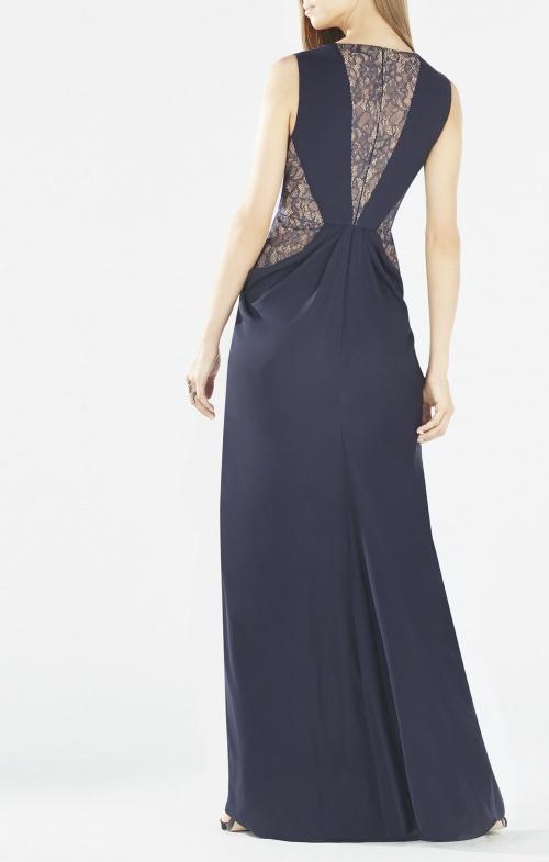 dentelle robe bleu