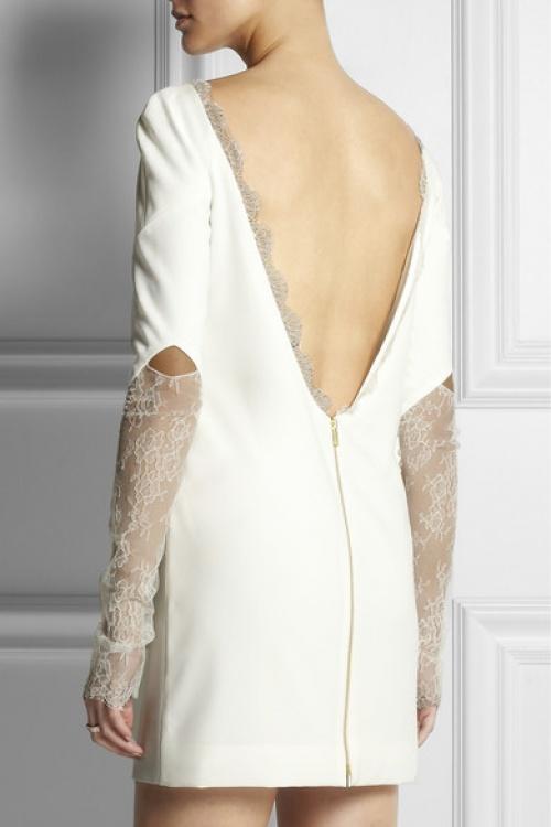 dentelle robe blanche