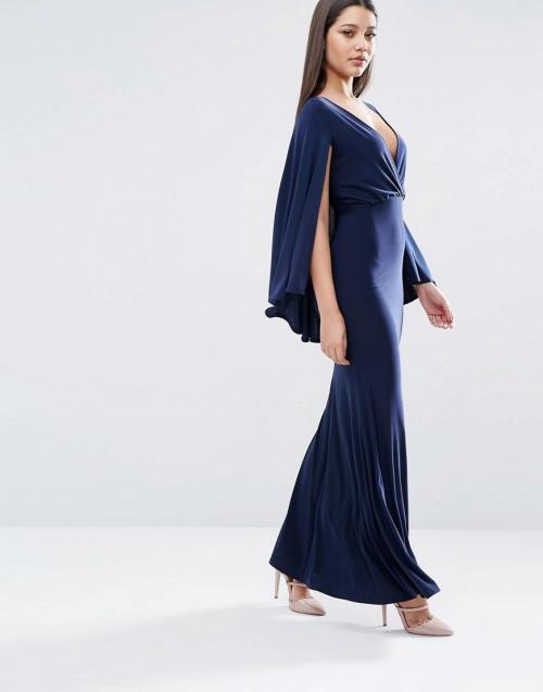 robe cape bleue