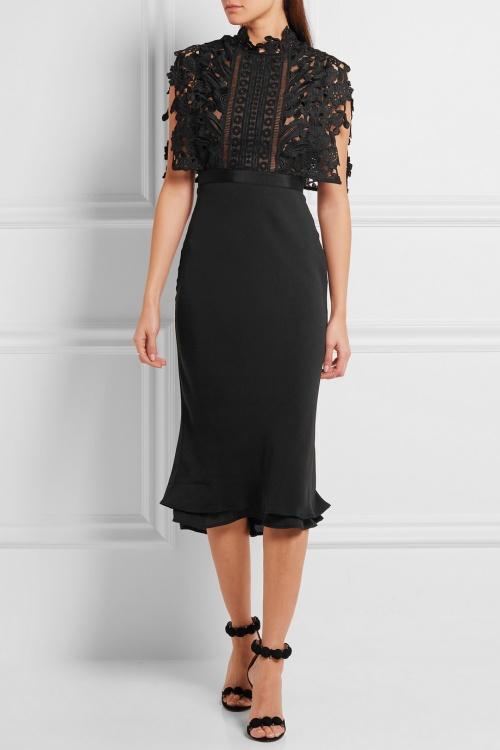 dentelle noir robe