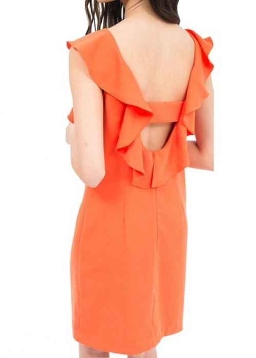 Claudie Pierlot robe dos nu orange