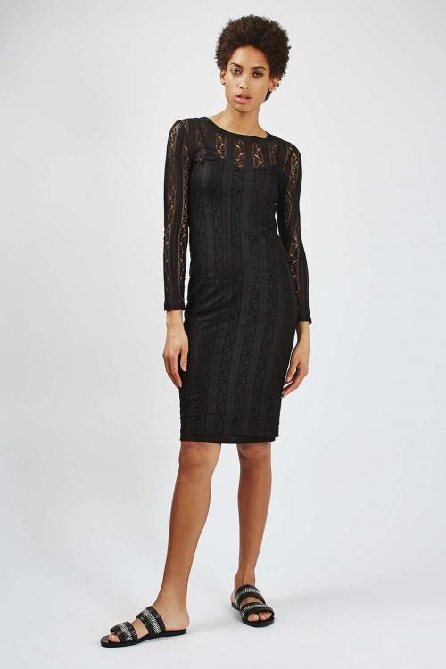 Topshop  robe noir dentelle