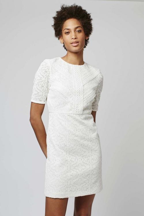 Topshop robe blanche dentelle