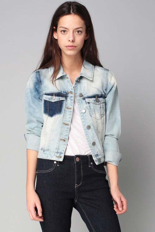 Noisy May veste jean décolorée