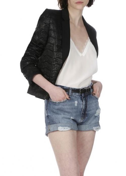 The Kooples veste texturée noire