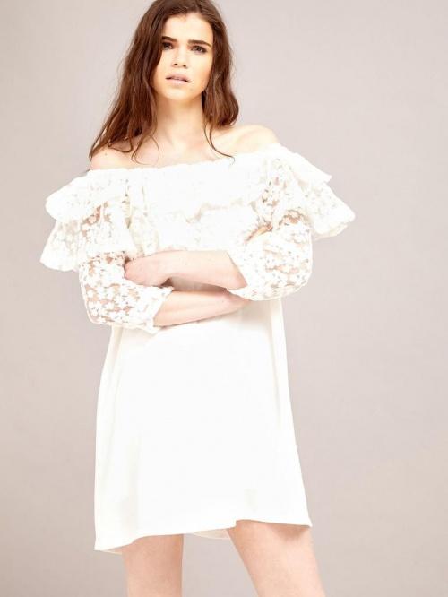 robe blanche bardot