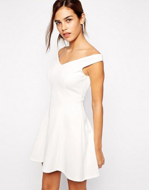 robe bardot blanche