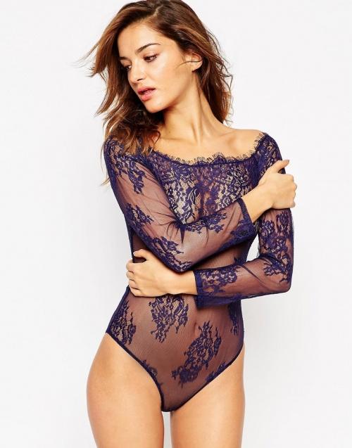 body violet dentelle