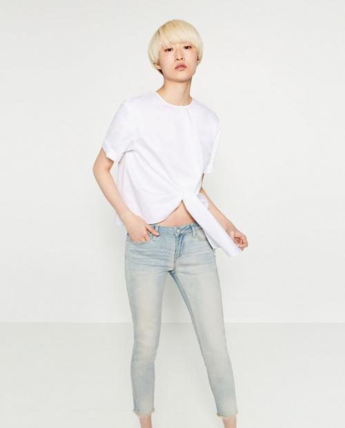 Zara jean skinny délavé clair